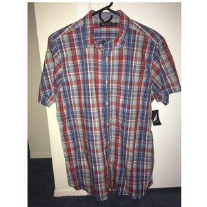 Nautica Mens Short Sleeve Button Down Shirt